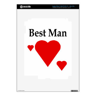 Solid Hearts Best Man Skin For iPad 3