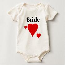 Solid Hearts Bride Baby Bodysuit