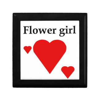 Solid Hearts Flower Girl Gift Boxes