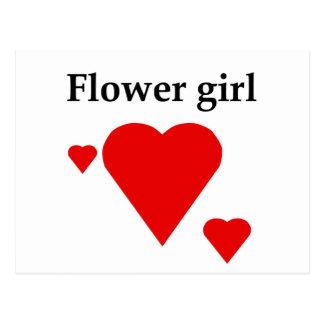 Solid Hearts Flower Girl Postcard