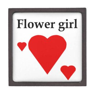 Solid Hearts Flower Girl Premium Trinket Boxes
