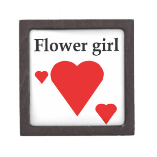 Solid Hearts Flower Girl Premium Gift Boxes