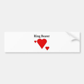 Solid Hearts Ring Bearer Car Bumper Sticker