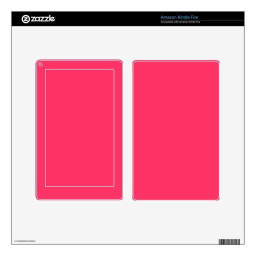 Solid Hot Pink Background Color FF3366 Background Decal For Kindle Fire