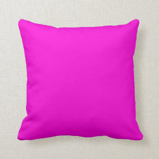 Solid Hot Pink Background Throw Pillow