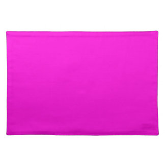 Plain Neon Pink Wallpaper Solid Background Placemats