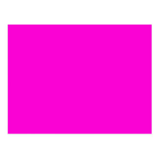 Solid Hot Pink Background Postcard