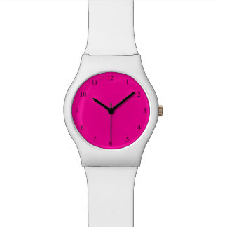 Solid Hot Pink Wristwatch