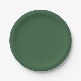 Solid Hunter Green 9 Inch Paper Plate