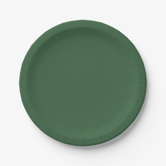 Solid Hunter Green 7 Inch Paper Plate