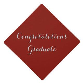Solid Indian Red Congratulations Graduate Graduation Cap Topper