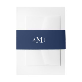 Solid initials customizable ground belly band