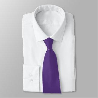 Solid Kingfisher Daisy Purple Satin Tie