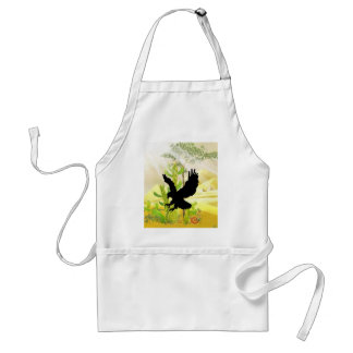 Solid landing and success eagle adult apron