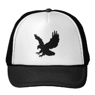 Solid landing and success eagle trucker hat
