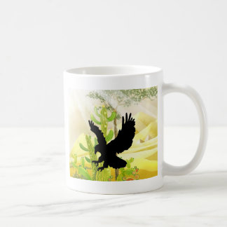 Solid landing and success eagle mug