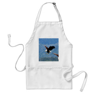 Solid landing Bald Eagle Adult Apron