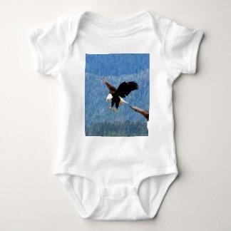 Solid landing Bald Eagle Baby Bodysuit