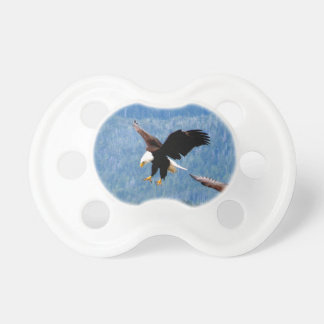 Solid landing Bald Eagle Baby Pacifier