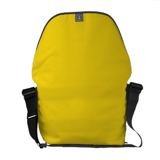 Solid Lemon Yellow Courier Bag
