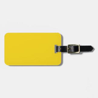 Solid Lemon Yellow Luggage Tag