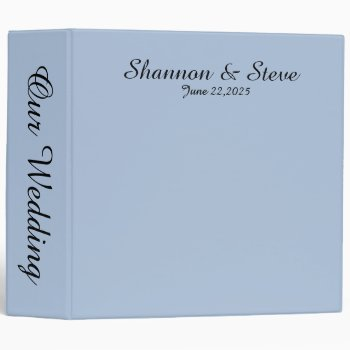 Solid Light Blue Personal Wedding Binder