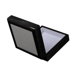 Solid Light Gray Ceramic Tile Gift Box