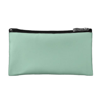 Solid Light Green Cosmetics Bags