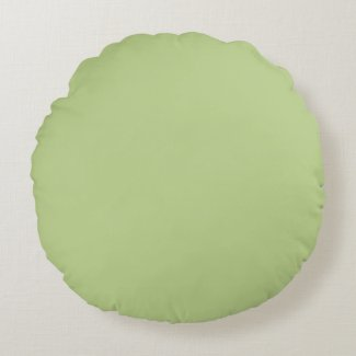 Solid Light Green Round Pillow