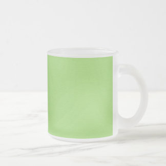 SOLID LIGHT HONEYDEW GREEN BACKGROUND TEMPLATE TE FROSTED GLASS COFFEE MUG
