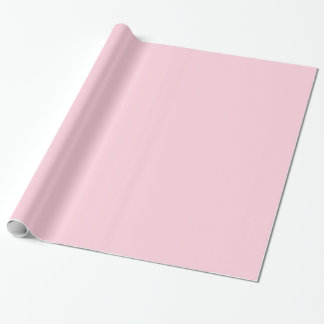 Solid Light Pink Gift Wrap Paper