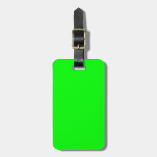 Solid Lime Green Luggage Tag