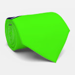 Solid Lime Green, Navy Blue Ribbon Name Monogram Tie