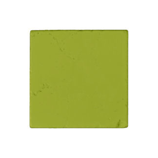 Solid Lime Green Stone Magnet