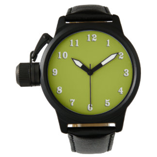 Solid Lime Green Wrist Watches