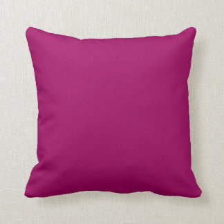 Solid Magenta Pop of Color Throw Pillow