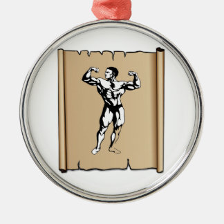 solid male metal ornament