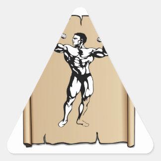 solid male triangle sticker