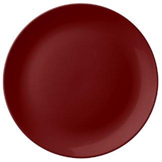 Solid Maroon Dinner Plate
