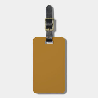 Solid Matte Gold Bag Tags