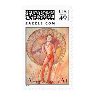 Solid Matter Figure Postage Stamp