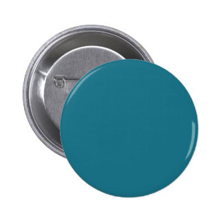 Solid Medium Blue Green color 2 Inch Round Button