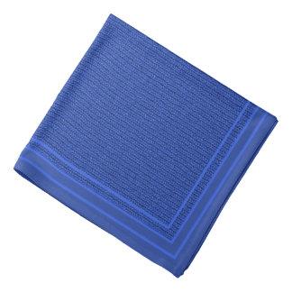 Solid Medium Blue Knit Stockinette Stitch Pattern Bandana