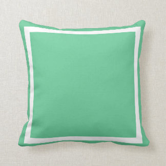 solid medium soft powder blue green plain pillow