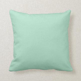 Solid Mint Color Accent Pillow
