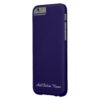 Solid Navy Blue Personalized iPhone 6 Case