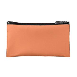 Solid Nectarine Orange Cosmetic Bags