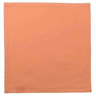 Solid Nectarine Orange Cloth Napkins