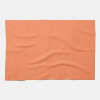 Solid Nectarine Orange Kitchen Towel