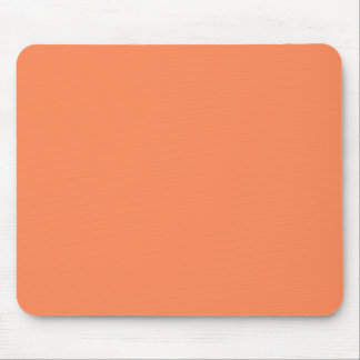 Solid Nectarine Orange Mouse Pad